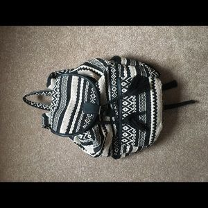 Black and white American Eagle backpack